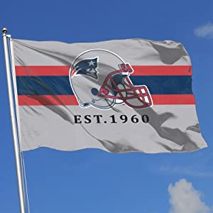 New England Patriots Garden Flags Yard Decoration Stripes Indoor/Outdoor Sports Banner 3x5 FT