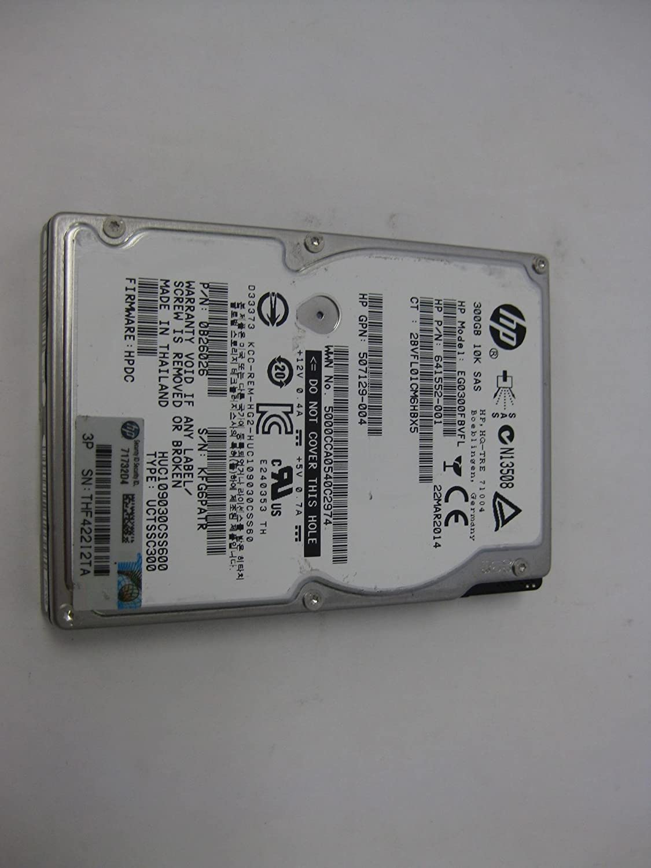 EG0300FBVFL HP 300GB 10K 6G SFF SAS SC HDD EG0300FBVFL