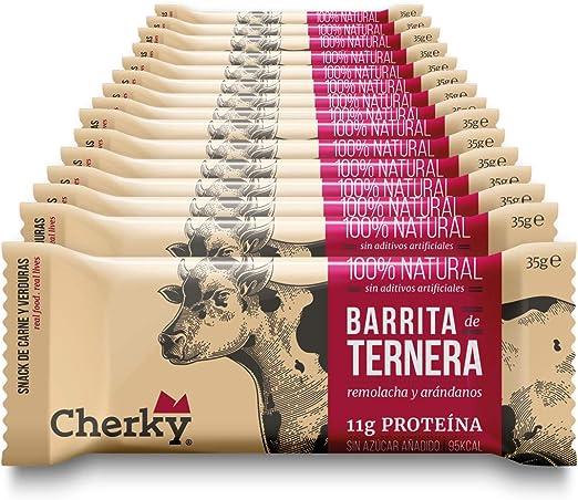 Cherky Barritas de Ternera con Remolacha y Arándanos, Snack ...