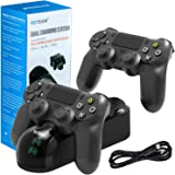 PS4 Controller Charger Charging Station, Dual Shock 4 Controller Charger Playstation 4 Twin Charge Docking Station for Sony PS4/Pro/PS4 Slim Controller - Black