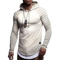 LEIF NELSON Herren Gesteppter Pullover Kapuzenpullover Hoodie Sweatshirt Kapuzen Pulli LN8155