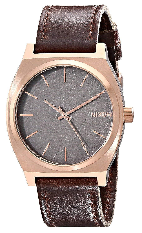 Amazon.com: Nixon Time Teller Leather (Rose Gold/Gunmetal/Brown): Nixon: Watches