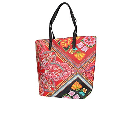 Amazon.com: DESIGUAL Bolsa FOLKLORE CARDS RIO Femenino ...