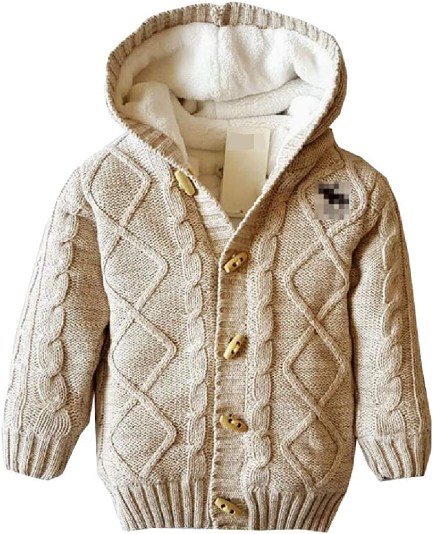 Joe Wenko Girls Fleece Hooded Boys Sweater Stretch Coat Cardigans