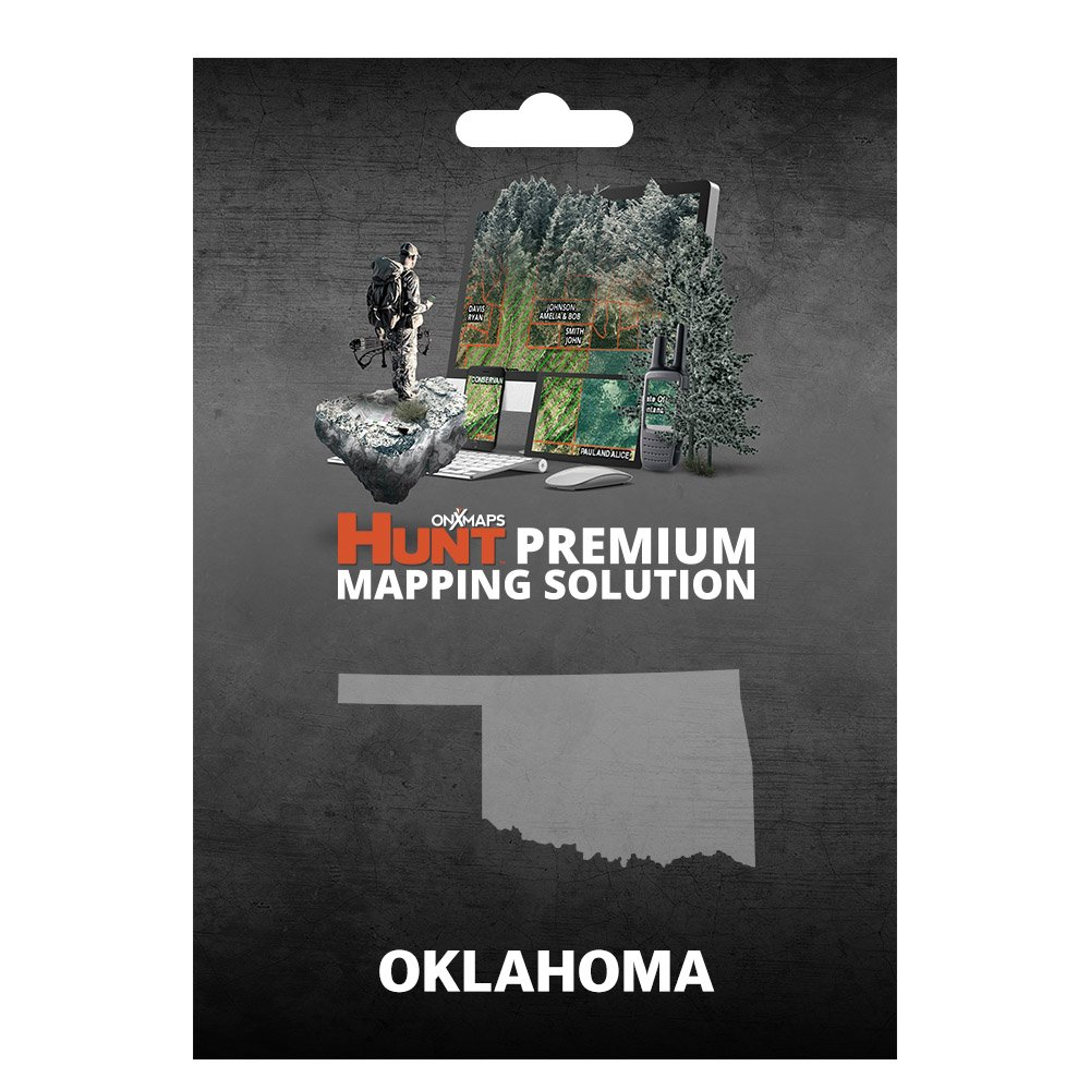 onXmaps HUNT Oklahoma: Digital Hunting Map For Garmin GPS + Premium Membership For Smartphone and Computer - Color Coded Land Ownership - 24k Topo - Hunting Specific Data