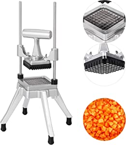 Happybuy Commercial Vegetable Fruit Dicer 3/8″Blade Commercial Easy Chopper Dicer Kattex Chopper Stainless Steel for Onion Tomato Peppers Potatoes Mushrooms