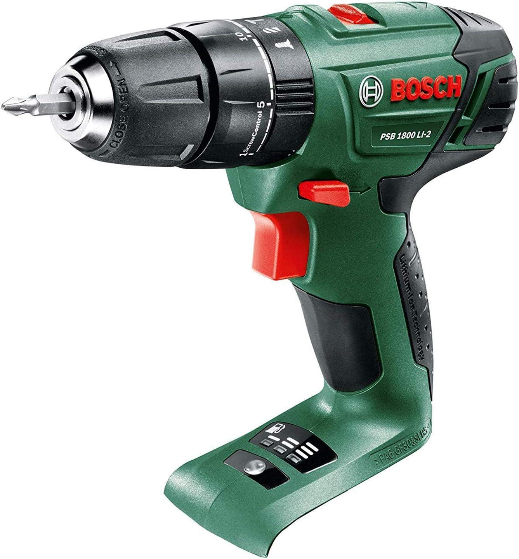 06039A330C verde 18V Bosch 06039A3370 PSB 1800 LI-2 Taladro combinado inal/ámbrico