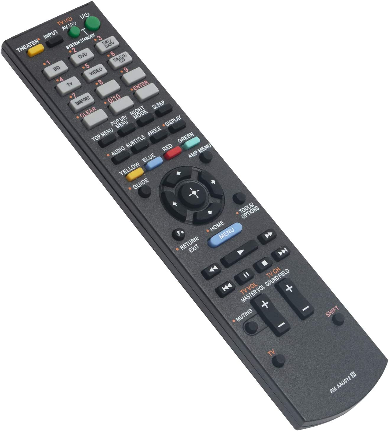 RM-AAU072 RMAAU072 Replace Remote Control Sub RM-AAU071 fit for Sony Home Audio Theater System HT-CT150 HT-CT150HP HT-SS370 HT-SF470 STR-KS370 HT-CT350 HT-AS5 HTCT150 HTCT150HP HTSS370 HTSF470