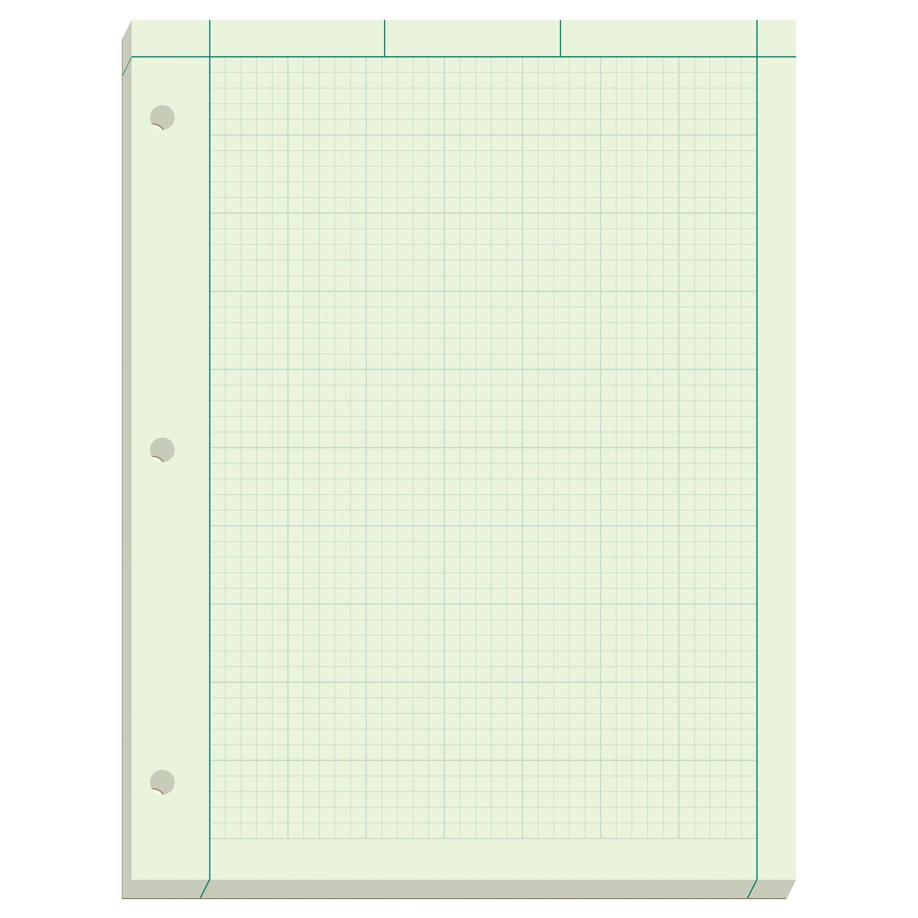 Ampad Engineer Pad, 5 Squares per Inch, 8.5'' x 11'', 200 Sheet Pad, Green (22-144)