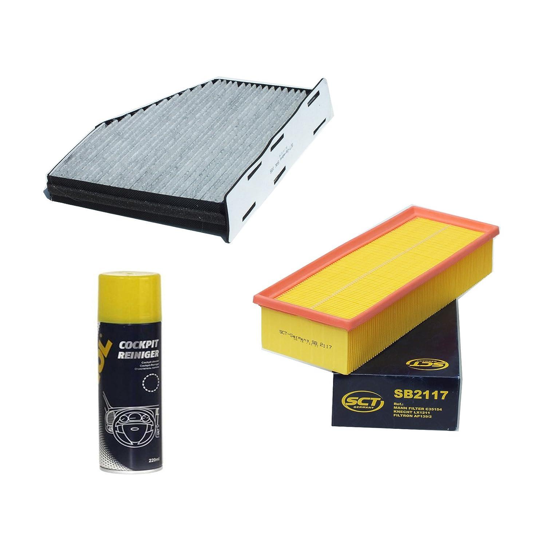 Inspektionspaket SCT Aktivkohle Pollenfilter Luftfilter und Geschenk SCT Germany