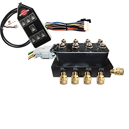How To Wire Up Solenoid Valve: Slam7R 4 Corner Solenoid Valve w/Function up/Down Air Bag Ride Controllerrh:amazon.com,Design