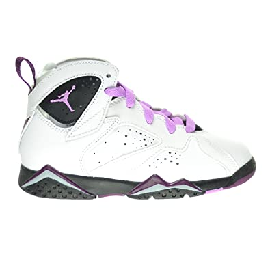 a91a45e880a1b7 Jordan 7 Retro GP Little Kid s Shoes White Fuchsia Glow Black Mulberry  442961