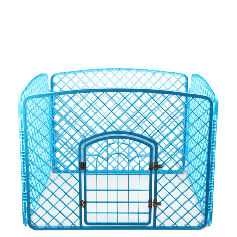 ペット フェンス,折り畳み式の金属製犬クレート 犬のフェンス ケージ 緑のプラスチック製犬小屋 ケージ pp 樹脂素材ペット ベビー サークル-青 90x90x60cm(35x35x24inch) B07D1L5WKK 12364  青 90x90x60cm(35x35x24inch)