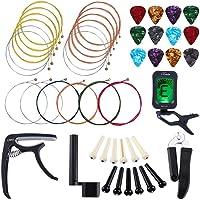 Honeytecs Kit de acessórios para guitarra Kit de acessórios para guitarra Ferramenta de manutenção para iniciantes