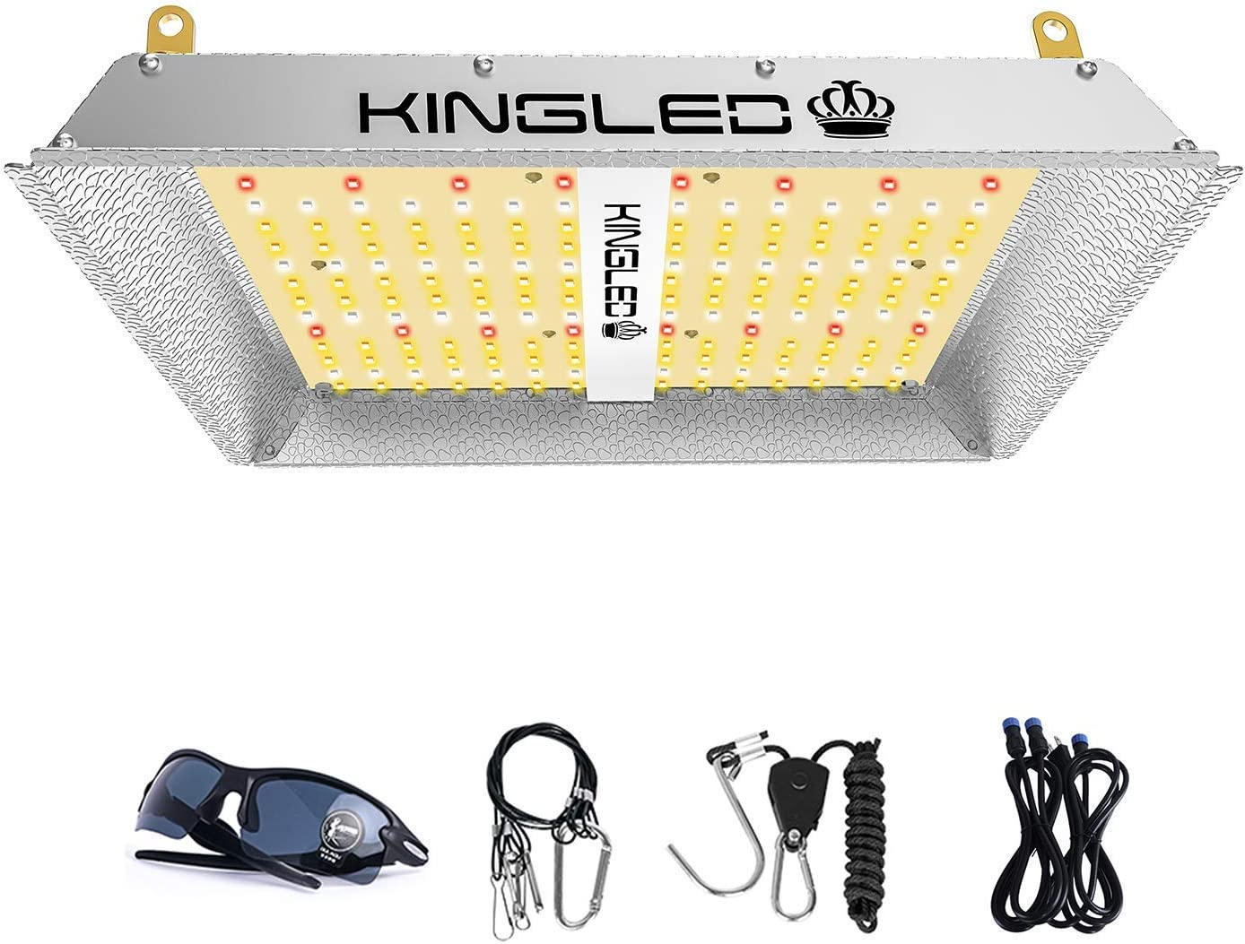 KingLED UL-600 LED Grow Light 2x2ft Full Spectrum Grow Lamp Plants Growing for Hydroponic Indoor Seeding Veg and Bloom Greenhouse Growing