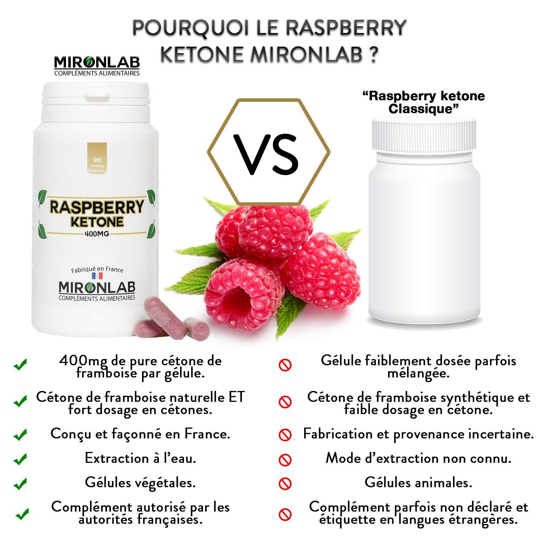 Raspberry ketone complément minceur 400mg / gélule | Pur concentré de  cétone de framboise | Brûle graisse et facilite la perte de poids | 90  gélules