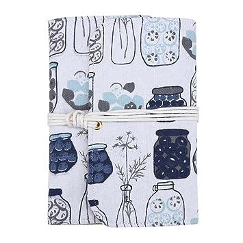 demiawaking botellas patrón tela cuaderno espiral A5 A6 cuaderno de ...