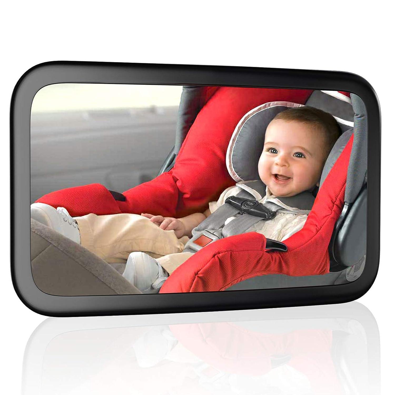 Ccautovie Rücksitzspiegel Für Baby Autospiegel Kinder Rücksitz Babyspiegel Auto Spiegel Baby Bruchsicherer Schwarz Baby