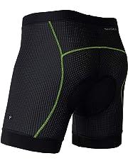 NAVISKIN Pantalones Cortos de Ciclismo 3D Ergonómicos para Hombre Shorts para Bicicleta Elástico Suave Transpirable Secado Rápido