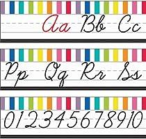Schoolgirl Style | Just Teach Cursive Alphabet Line Bulletin Board Set | Printable