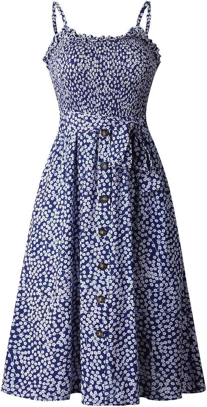 Nobrand vielseitiges bedrucktes Kleid zum Schnüren mit Rüschen und