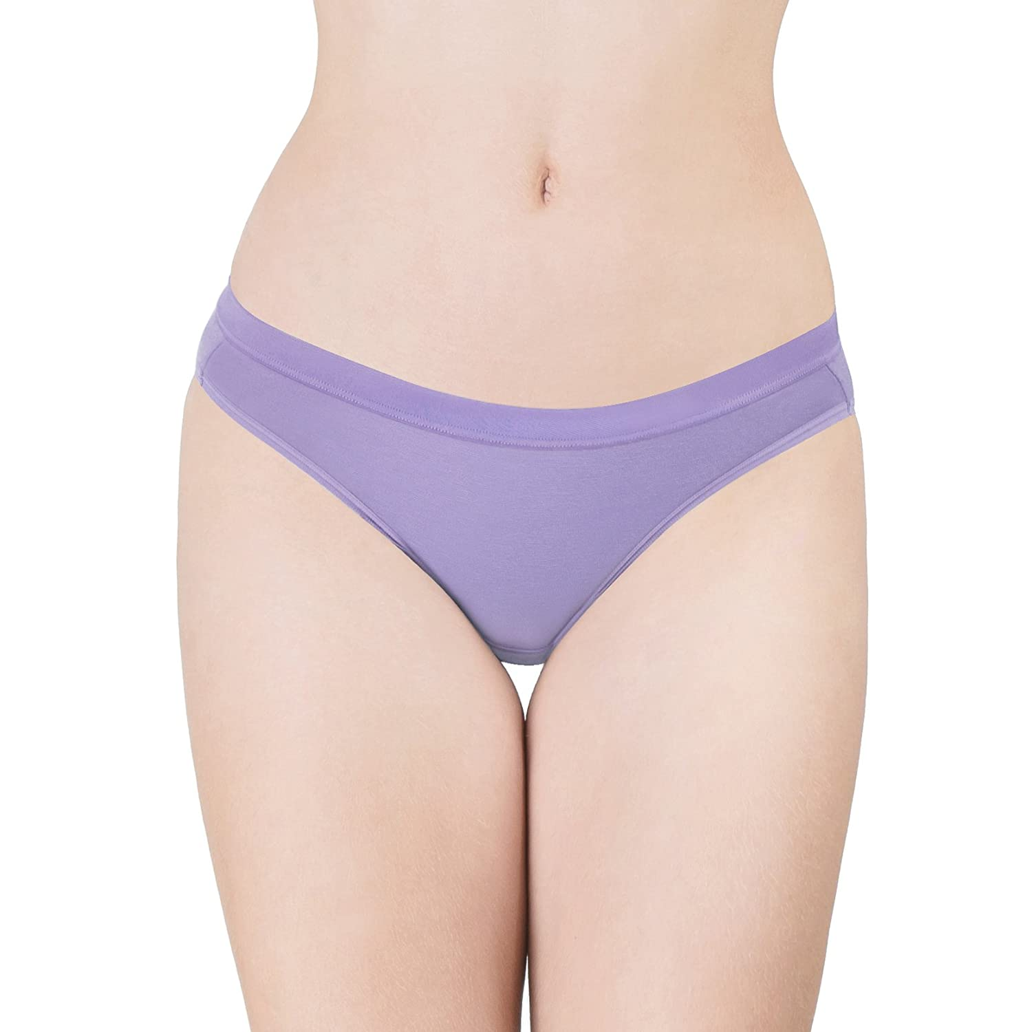 Pure5.5 Womens Classic Hipster 4-Pack pH Balancing Underwear Lingerie Panties aPure