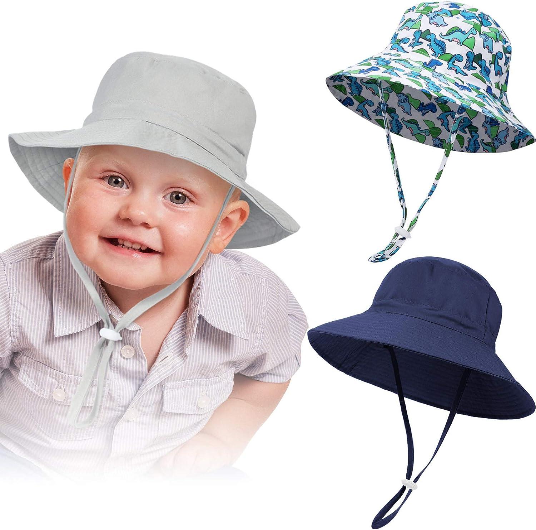 Baby Sun Hat Smile Face Toddler UPF 50 Sun Protective Bucket hat Nice Beach hat for Baby Girl boy Adjustable Cap