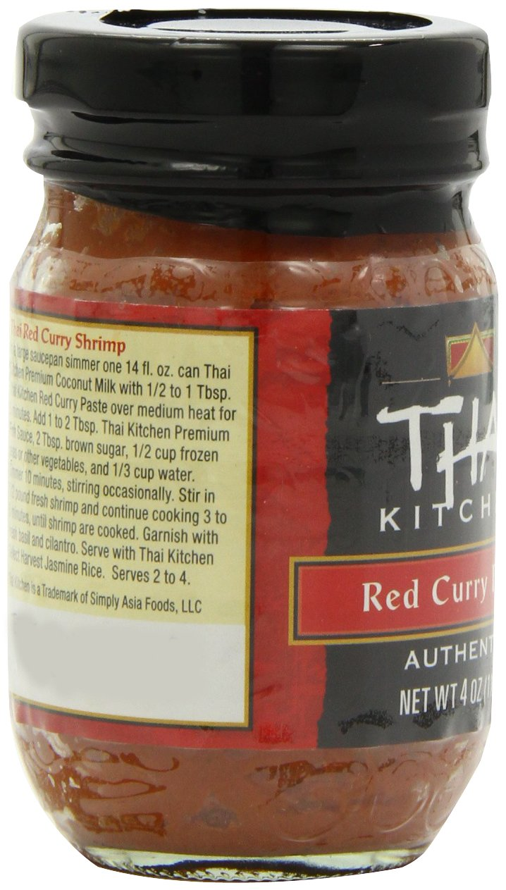 Amazon Com Thai Kitchen Red Curry Paste 4 Ounce Jars Pack Of 12 Curry Sauces Grocery Gourmet Food