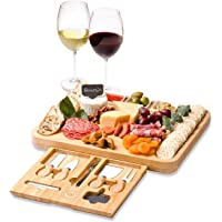 Klassy Kitchen Co Charcuterie Boards - Bamboo Cheese Board Set (18 Piece) - Large Charcuterie Board Set Perfect For…