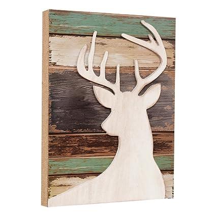 Black Forest Decor Deer Wood Silhouette Wall Art