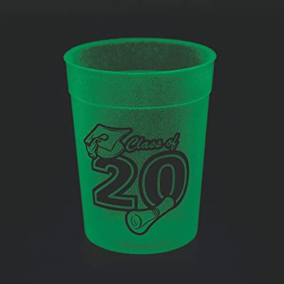 CLASS OF 2020 GID CUPS - Party Supplies - 12 Pieces: Kitchen & Dining