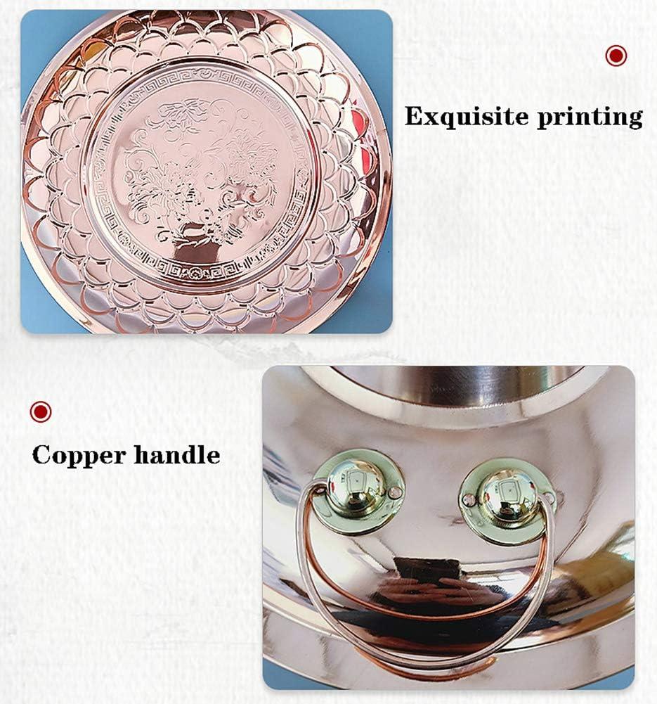 WN-PZF Kupfer Hot Pot, Kupfer Hot Pot durch Haushalt Holzkohle/elektrisch Feuer erhitzt, kann Zwei Arten von Hot Pot gleichzeitig Kochen, traditionelle chinesische Küche 1 flavor B