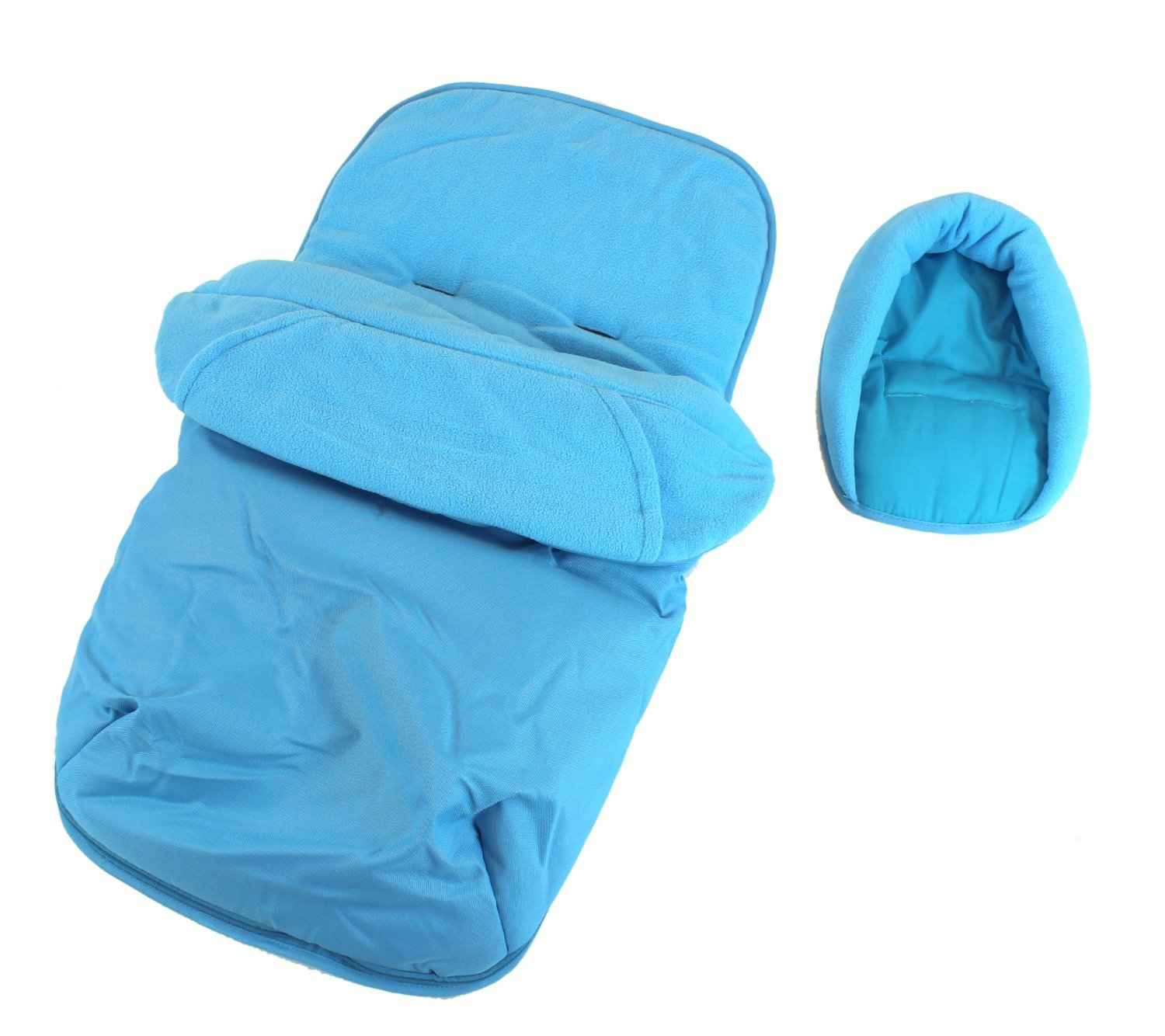 3 In 1 Luxury Padded With Pouches Footmuff Liner And Baby Head Hugger Fits Any Stroller Pram Or Buggy - Ocean Baby Travel®