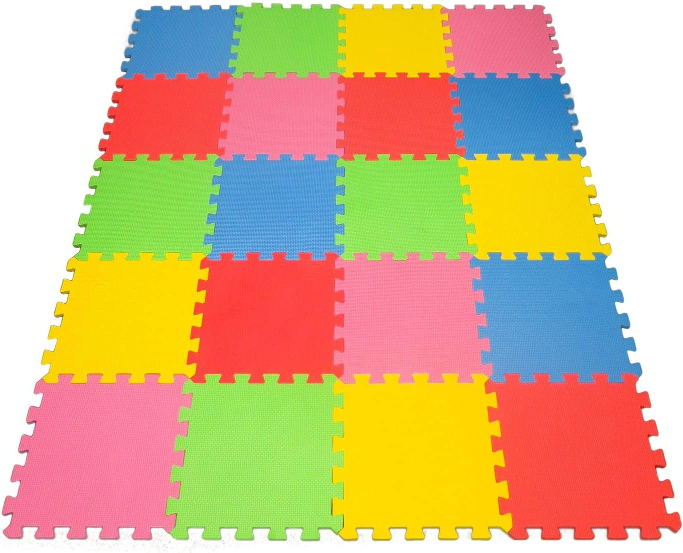 Angels 20 XLarge Foam Mats Toy ideal Gift, Colorful Tiles Multi Use, Create & Build A Safe PLay Area Interlocking Puzzle eva Non-Toxic Floor for Children Toddler Infant Kids Baby Room & Yard Superyard: Toys & Games
