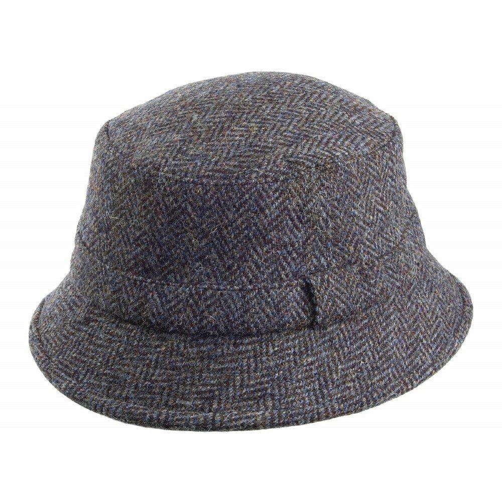 Failsworth cappelli Grouse Harris Tweed secchio cappello –  Blu Mix