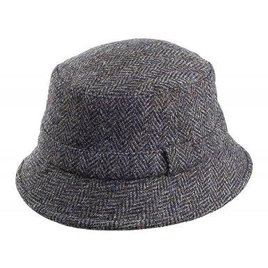 948a152892696 Failsworth Hats Grouse Harris Tweed Bucket Hat - Blue Mix MEDIUM:  Amazon.co.uk: Clothing