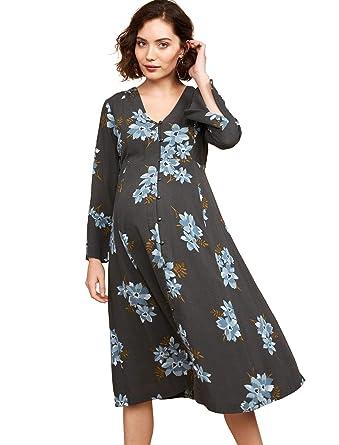 8241c38507a38 Motherhood Mimi Button Front Maternity Dress at Amazon Women's Clothing  store: