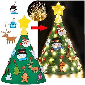 Árbol de Navidad para Niños, Funpa DIY Fieltro Adornos para árboles de Navidad Árbol de