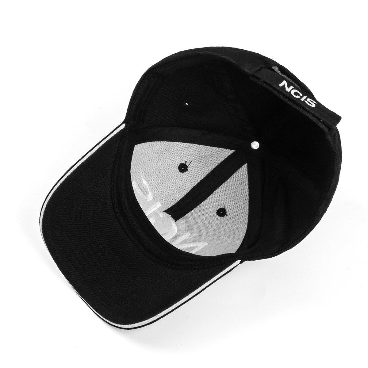 573ab212091d2 Nofonda NCIS Special Agents Cap Naval Criminal Investigative Service  Embroidered Adjustable Cotton Baseball Cap Hat (Black)
