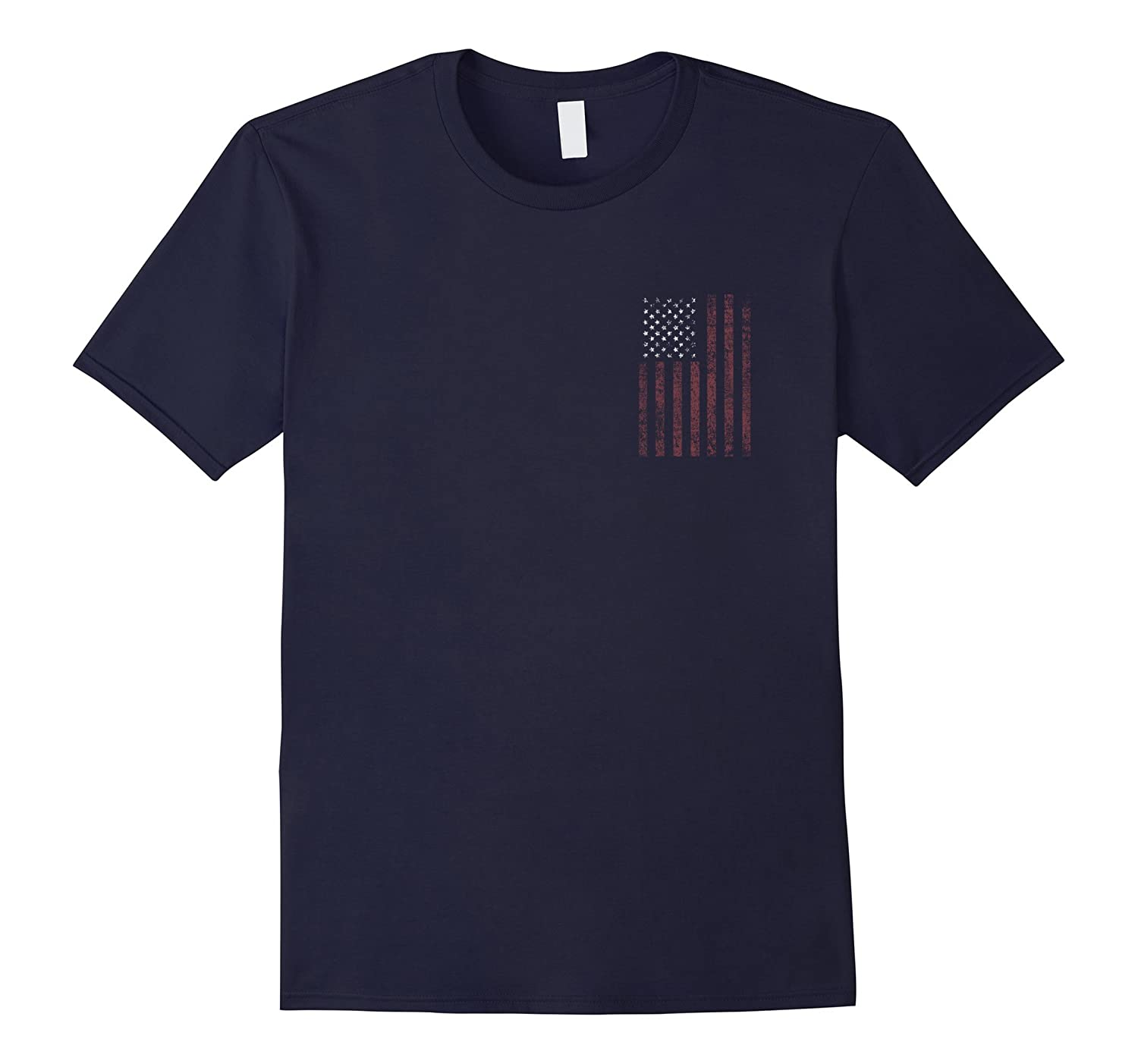 I Stand for the National Anthem Front & Back-T-Shirt