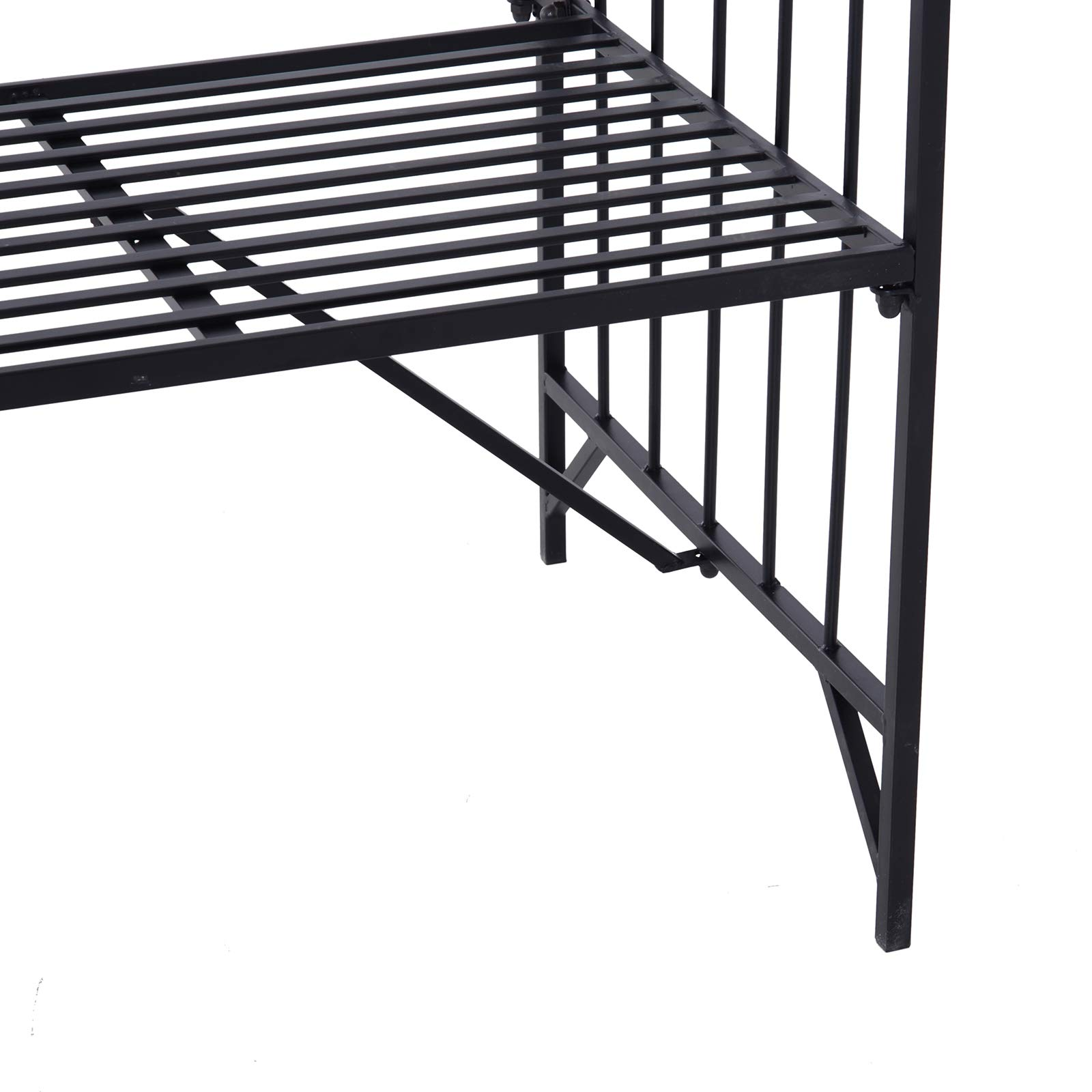 Outsunny Outdoor Garden Arbor Arch Steel Metal with Bench Seat - Black by Outsunny (Image #8)