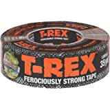 T-REX 240998 Ferociously Strong Tape, 1.88 Inches x 35 Yards, Waterproof Backing, Dark Gunmetal Gray, Single Roll