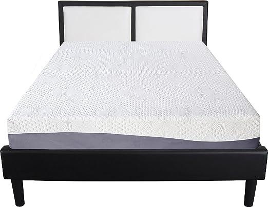 SLEEPLACE Aquarius Memoria colchón, Espuma, Blanco, 10