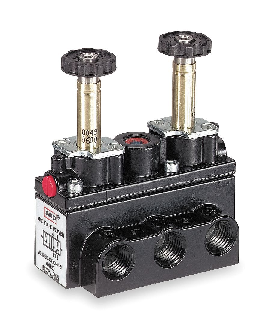 Solenoid Air Control Valve 1//4 In 4-Way