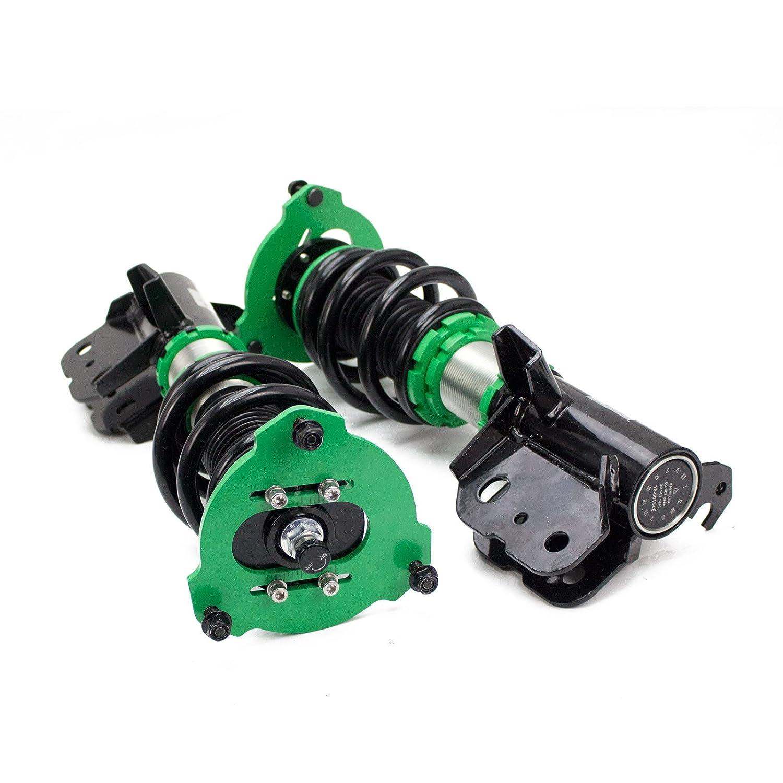 Full Length Adjustable Mono-Tube Shock w// 32 Click Rebound Setting Hyper-Street II Coilover Suspension Lowering Kit