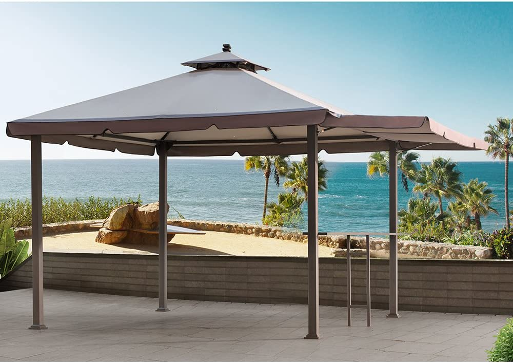 Sunjoy 110109170 Double Roof Gazebo Canopy Replacement Set Amazon Co Uk Garden Outdoors