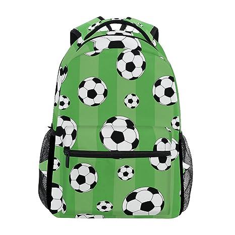 TIZORAX - Mochila de Viaje, diseño de fútbol, Color Verde
