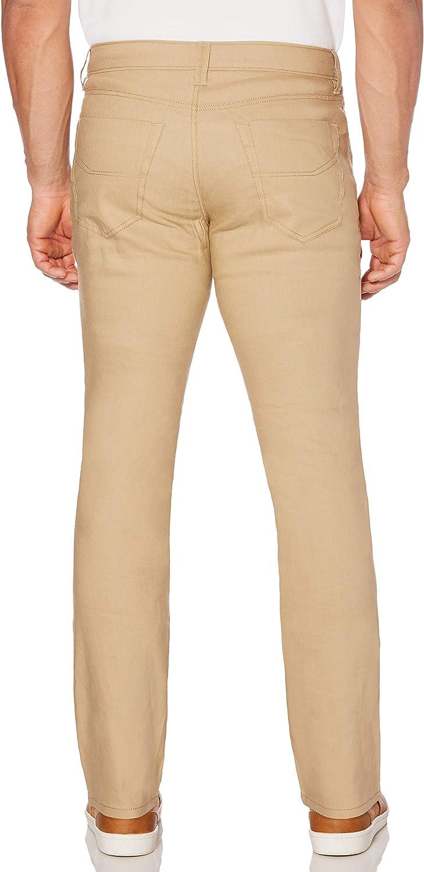Cuba Vera Mens Linen-Blend 5-Pocket Pant with Stretch Pants