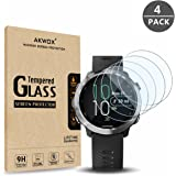 (4 Pack) Tempered Glass Screen Protector for Garmin Forerunner 645, AKWOX [0.33mm 2.5D High Definition 9H][Anti-Scratch] Premium Clear Screen Protector