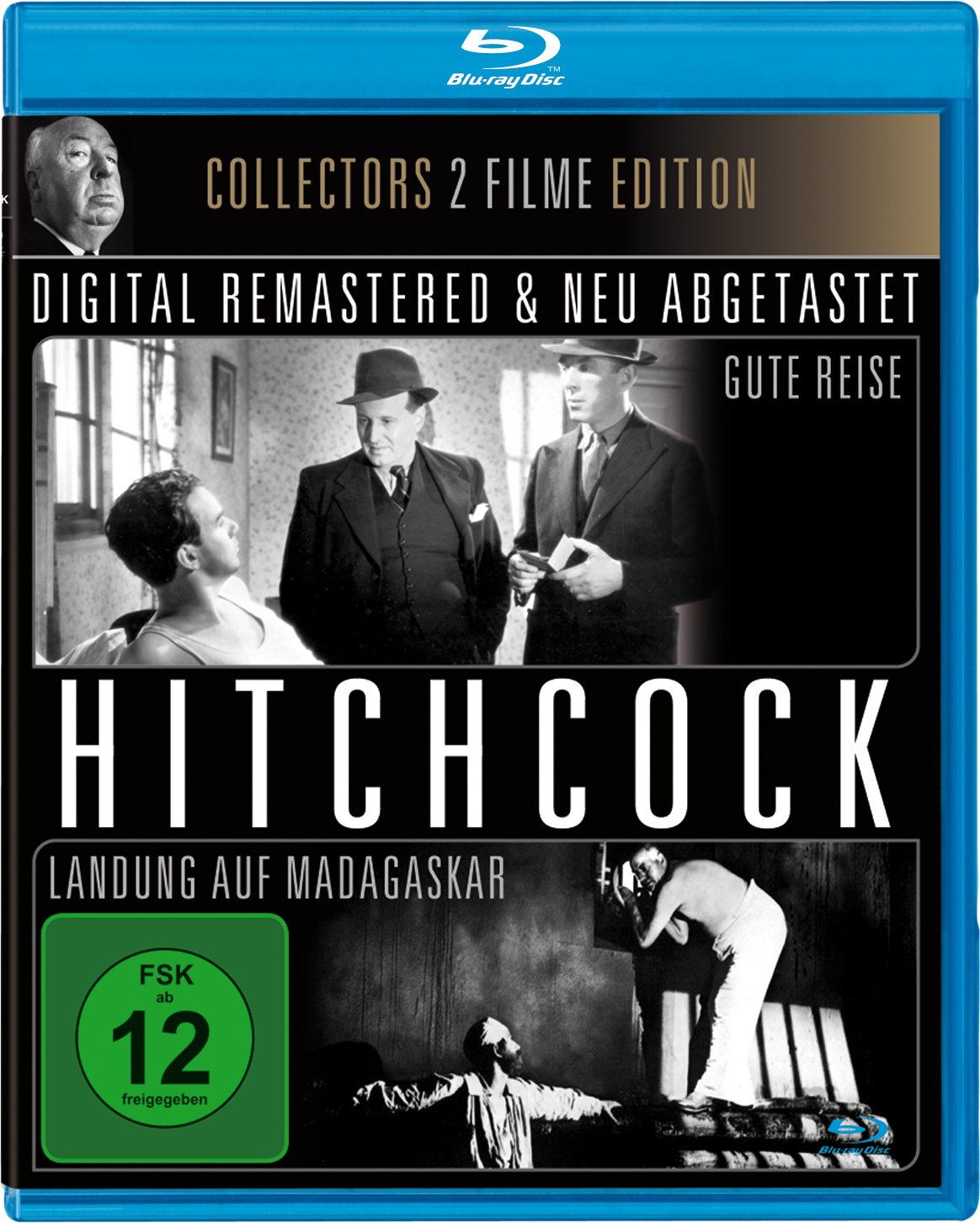 You little star. Not. This German Great Movies Blu-ray has Hitch's wartime shorts, Bon Voyage and Aventure Malgache (1944), in their original French only and with no subs whatsoever. The icing on the cake? It's in particularly poor standard definition. You'd be far better off with any of the licensed, subtitled releases listed here.
